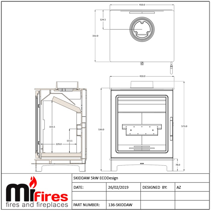 Skiddaw Stove Dimensions