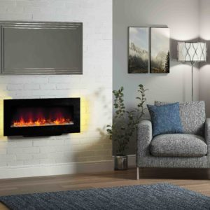 "Be Modern Amari 38"" Wall mounted or free standing electric fire"
