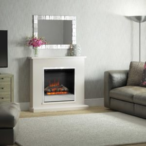 Be Modern Elsham Electric fireplace Pearlescent Cashmere