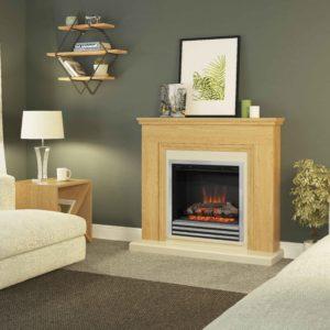 """Be Modern Stanton Oak 46"""" Electric fireplace"""