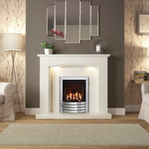 "Be Modern Emelia 48"" Marble Surround"